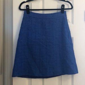 kate spade cobalt blue a line skirt size 0